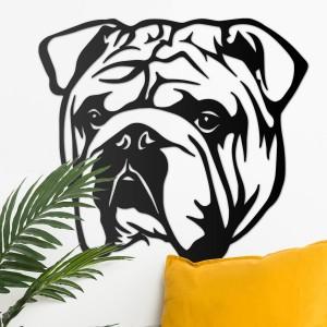 Bulldog Wall Art in Situ on a White Wall