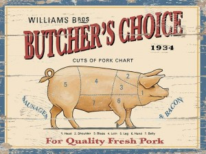 """Butchers Choice"" William Bros Metal Sign"
