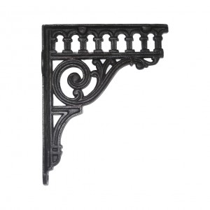 Cast Iron Railway Bracket finished in black