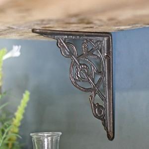 Traditional cast iron trellis bracket