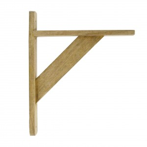 Natural finish hardwood shelf bracket