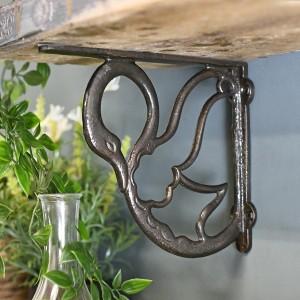 Natural Cast Iron Finish Shelf Bracket