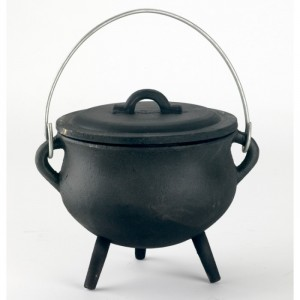 Cast Iron Cauldron in a Black Finish