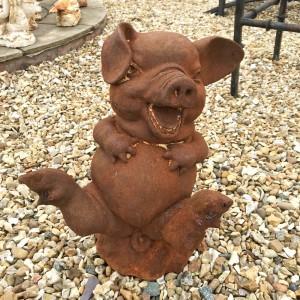 """""""Porky the Pig"""" Metal Sculpture"""