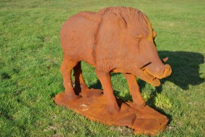 """Brockton"" Cast Iron Rustic Wild Boar"