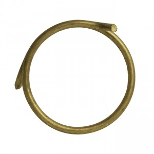 Set of 10 Brass Plated Curtain Rings