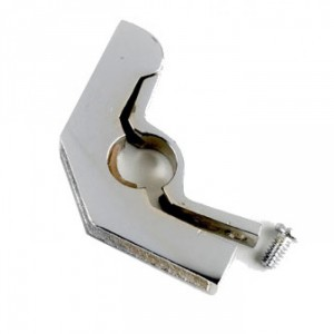 "Hinged Bracket with Flat Head Screw - 1/2"" Finished in Bright Chrome"