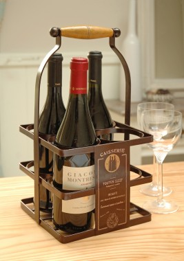 """Claudine"" Classic Wine Carrier"