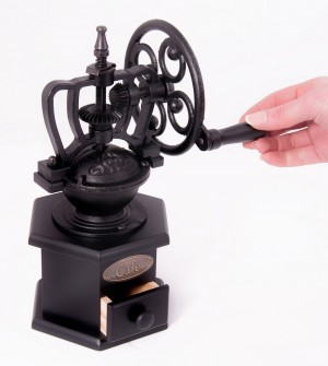 """""""Café Coeur"""" Cast iron and wood coffee grinder"""