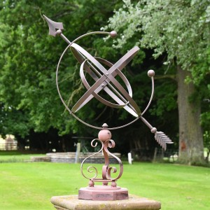 """Concordia"" Armillary Wrought Iron Scroll Design - 77cm"