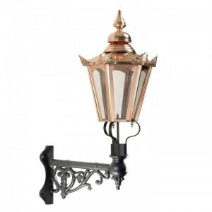 Copper Concordia Hexagonal Lantern On Corner Bracket