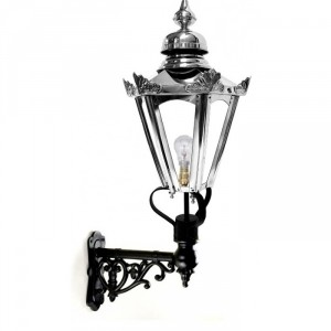 Stainless Steel Hexagonal Concordia Lantern on an Ornate Capella Bracket