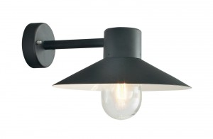 Contemporary Black Cone Shaded Wall Light
