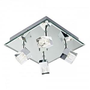 Contemporary Glass Mirrored Bathroom Ceiling Light
