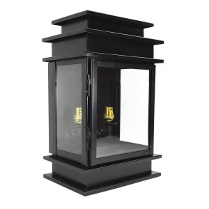Contemporary Style Black Wall Light