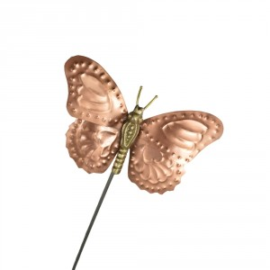 Copper Butterfly Garden Spike Ornament