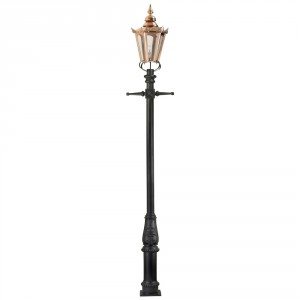 Copper Concordia Hexagonal Extra Large Lantern & Lamp Post Set