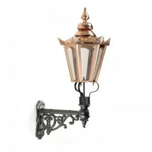 Copper Concordia Hexagonal Lantern On an Ornate Capella Bracket