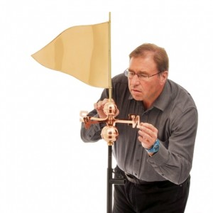 Weathervane - Polished Copper - Golf Tee Flag