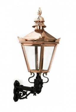 Copper Harrogate Wall Lantern on Bracket 53 x 27cm