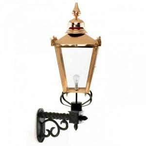 Copper Victorian Lantern On Royale Bracket