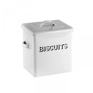 Bessie Vintage White Biscuit Tin