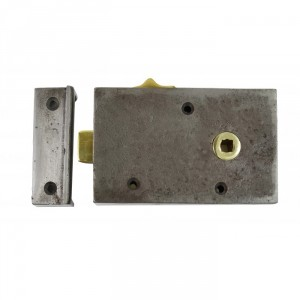 Cromwell Cast Iron Rim Lock with draw Back Bolt