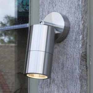 Contemporary Cylinder Wall Light on a Wooden Wall