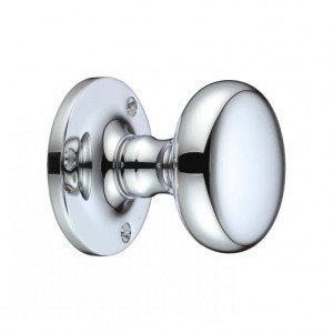 """""""Cypress"""" Polished Chrome Oval Mortice Knobs"""
