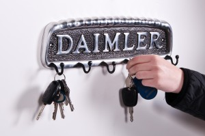 Daimler car key and hook rack