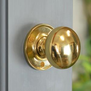 50mm Round Polished Brass Door Knobs