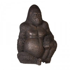 Detailed Gorilla Sculpture