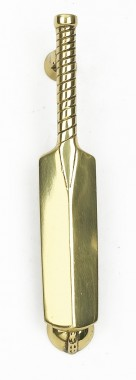 Polished Brass Cricket Bat Door Knocker
