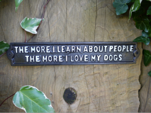 """""""I Love My Dogs"""" Sign"""