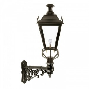 Black Dorchester Wall Light On a Capella Bracket
