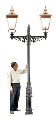 Rochester Double Lamp Post