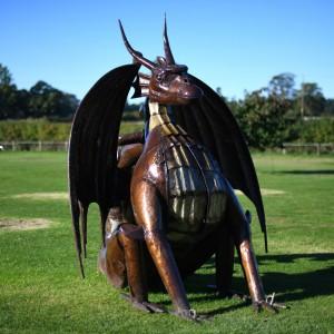 Recycled Metal Dragon BBQ & Sculpture
