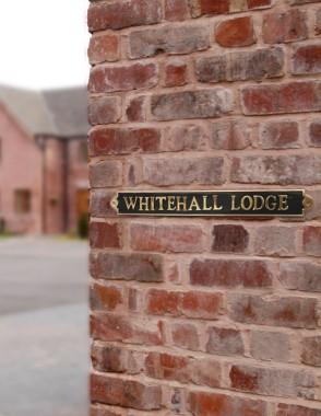 """The """"Warrington' Modern Brass House Sign"""