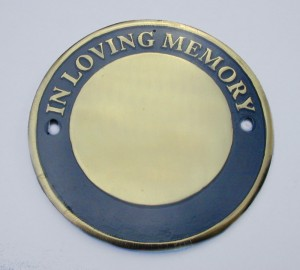 Polished Brass Circular Bench Memorial Plaque