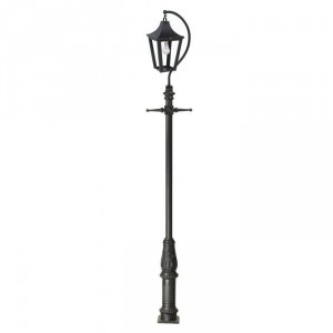 """Lincoln"" Black Swan Neck & Lamp Post 3.8m"