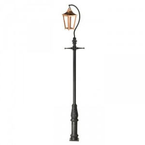 """Lincoln"" Copper Swan Neck & Lamp Post 4.6m"
