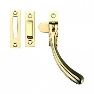 Brass Casement Window Fastener - Polished Brass