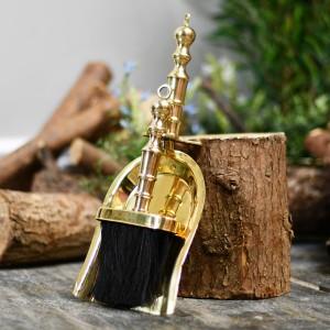Polished Brass Pan & Brush set