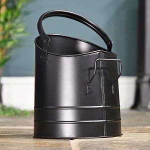 Modern Coal Bucket in a Sleek Black