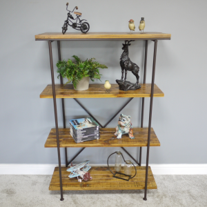 Four Tier Floor Standing Shelves in Situ