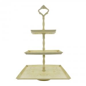 Cream Cake stand three tier