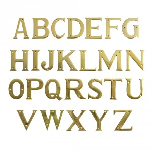 "3"" Polished Brass Face Fix Letters"