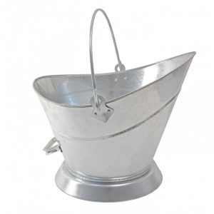 Low Scoop Galvanised Coal Bucket with Handle