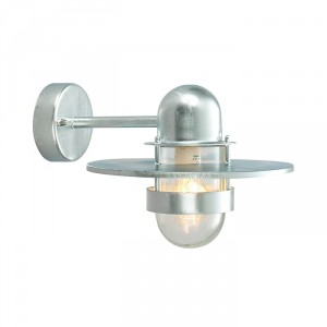 Galvanised Straight Bracket Top Fix Wall Light