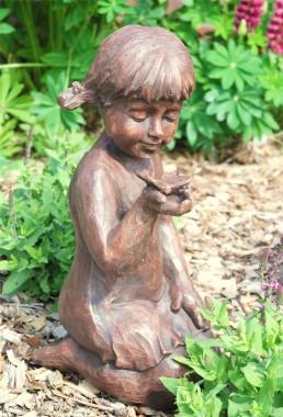 Girl & Butterfly Garden Ornament